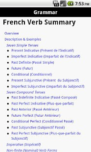 PeguinRoot French Verbs - screenshot thumbnail