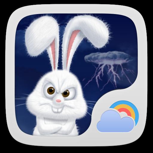 Mr Rabbit GO Weather Theme