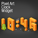 Pixel Art Clock Widget Donate logo