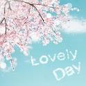 폰꾸미기 Lovely 벚꽃과 하늘 icon
