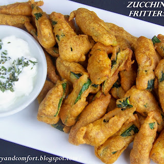 Spicy Zucchini Fritters.