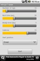 Screenshot of Virtual Trainer