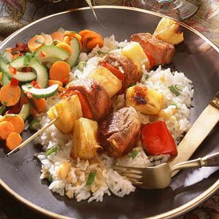 Pork-and-Pineapple Kebabs.