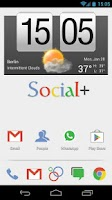 Screenshot of Social+ Theme 4 Apex Launcher