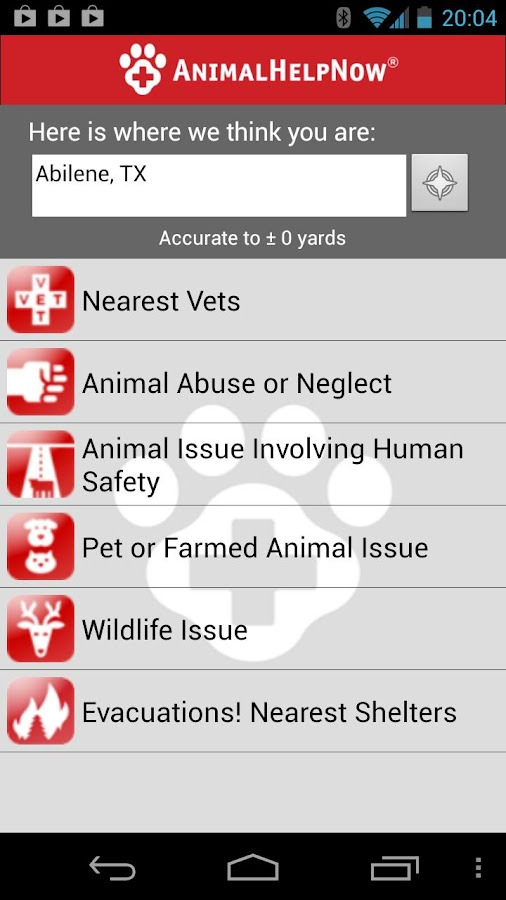 Animal Help Now - screenshot