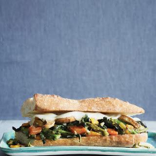 Philly Style Broccoli Raab, Provolone, and Portobello Sandwiches.