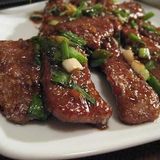 P.F Chang's Mongolian Beef.