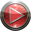 Poweramp skin red lizard icon