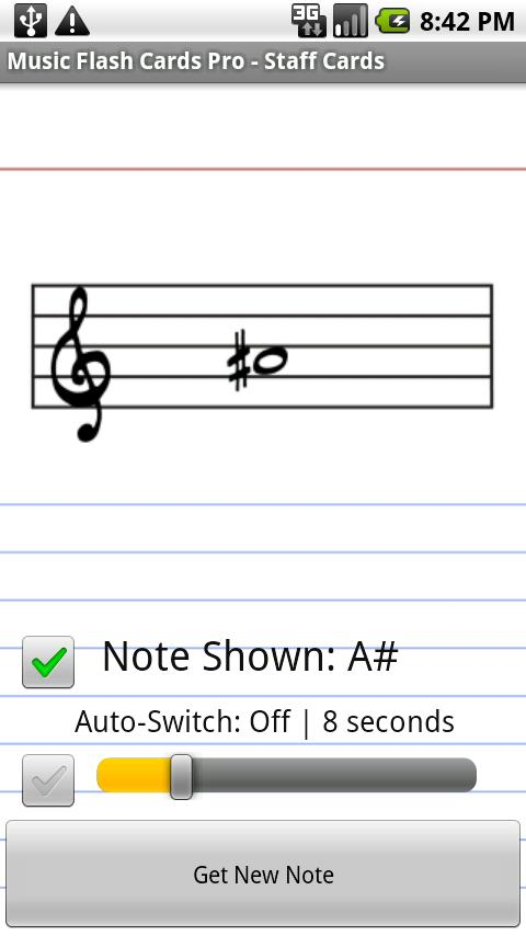 Music Flash Cards Pro - screenshot