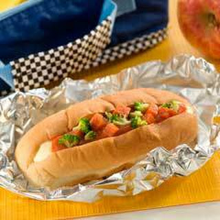Pizza ''cheese Dog''.