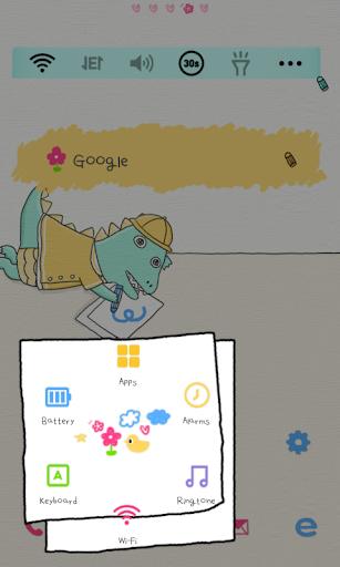 玩個人化App|아기공룡용용 크레파스 도돌런처 테마免費|APP試玩