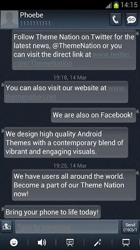 GO SMS Theme - Treflux