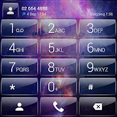 Dialer theme Galaxy Glass