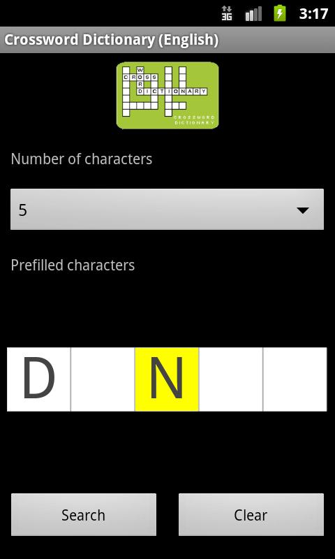 Crossword Puzzle Dictionary Screenshot 0