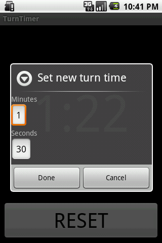 TurnTimer - screenshot