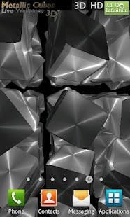 Metallic Cubes Live Wallpaper- screenshot thumbnail