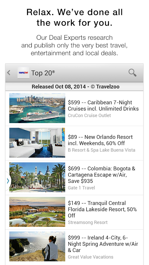 Travelzoo - screenshot