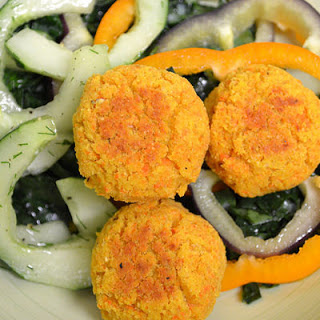 Roasted Carrot Falafel.