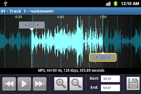 MP3 Cutter And Ringtone Maker - Android Freeware