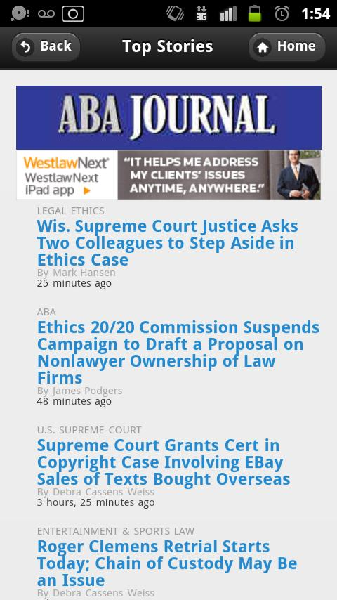 ABA Journal Mobile- screenshot
