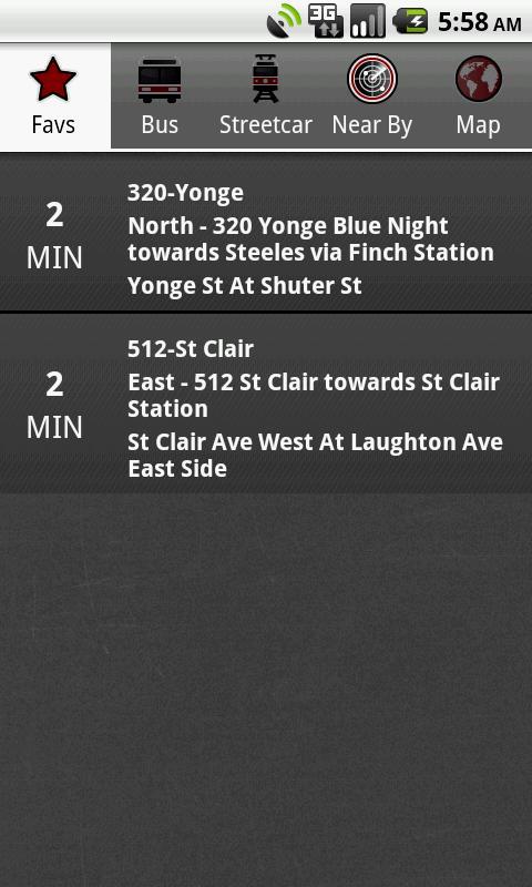 Toronto Transit Tracker - screenshot