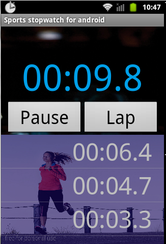 Sports stopwatch for android