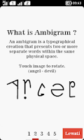 Screenshot of Ambimatic Ambigram Generator