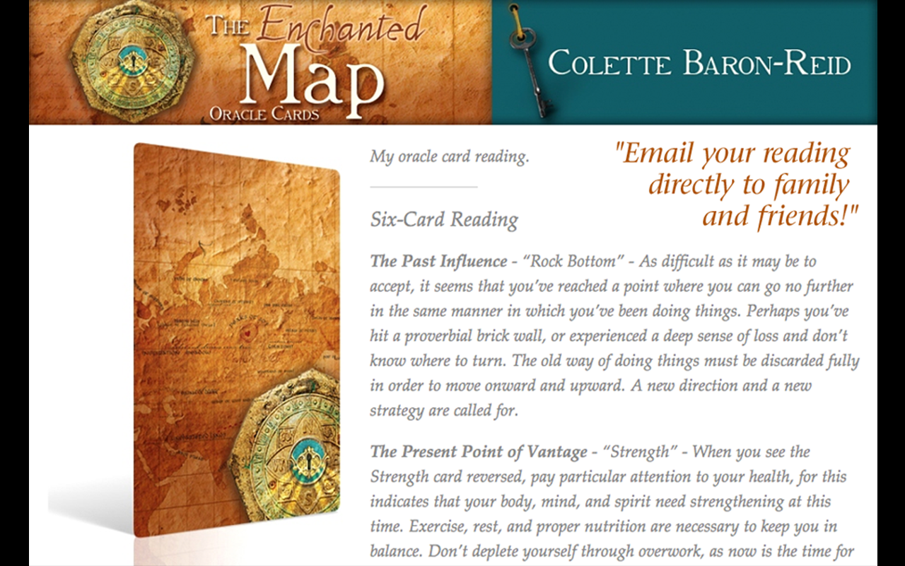 Enchanted Map Oracle Cards - screenshot