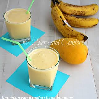 Pineapple Mango Banana Smoothie (Dairy Free).