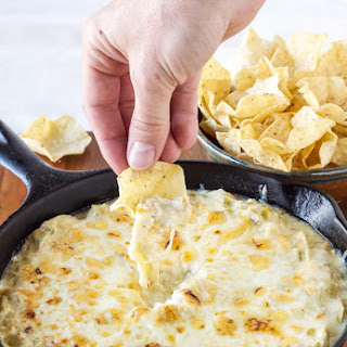 Skinny Green Chile Chicken Enchilada Dip.