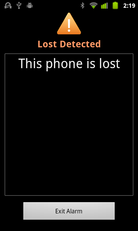 Keep bluetooth from lost- screenshot