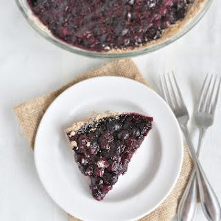 Healthy Blueberry Pie.
