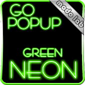 Green Neon GO Popup theme