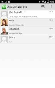 SMS Manager Pro, SPAM Filter screenshot