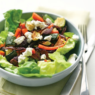 Roasted Vegetable Salad with Goat Cheese