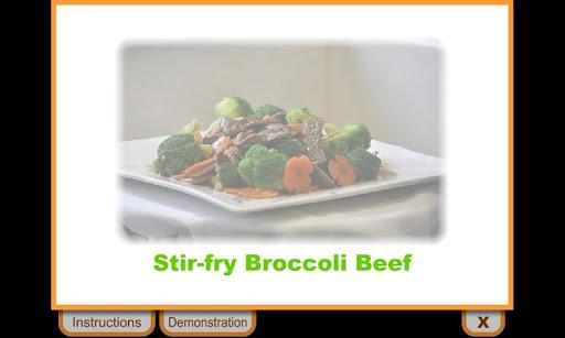 Stir-fry broccoli beef