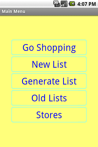 Simple Shopping List - screenshot