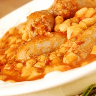Sausage And Cannellini Bean Stew.