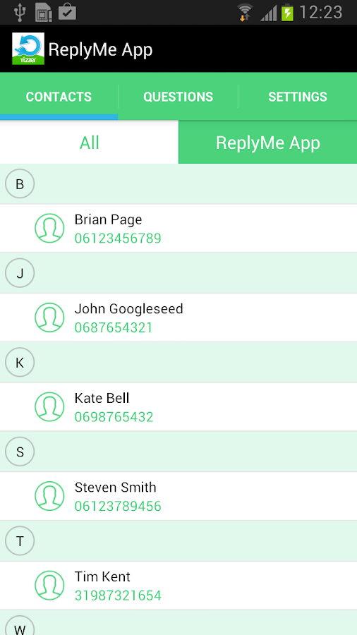 ReplyMe App - screenshot