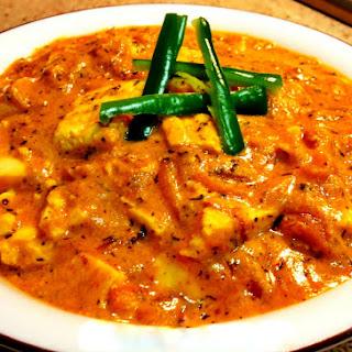Methi Paneer - Cottage Cheese in Indian Sauce.