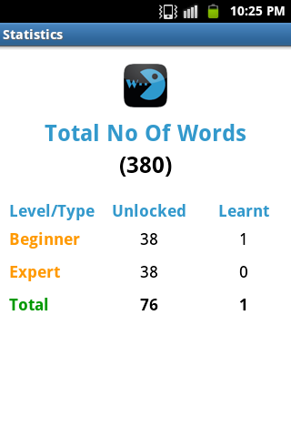 Word Learner Vocab Builder GRE - screenshot