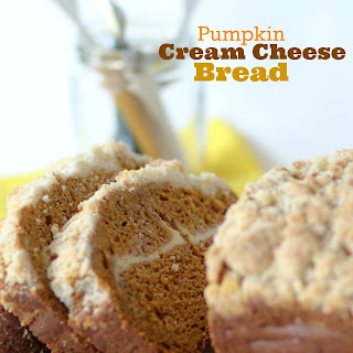 Pumpkin Cream Cheese Bread with Crumb Topping