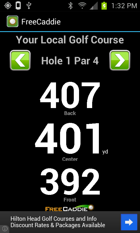 FreeCaddie Golf GPS - screenshot