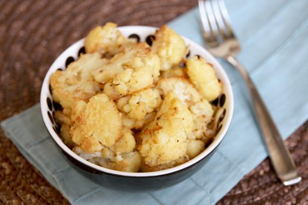 Roasted Garlic-Parmesan Cauliflower Recipe