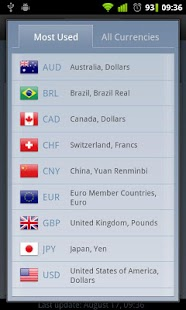 Currency Exchange Rates - screenshot thumbnail