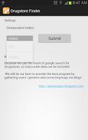 Screenshot of Drugstore Finder