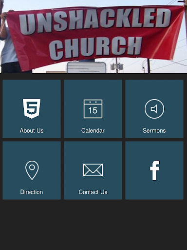 Unshackled Church tablet