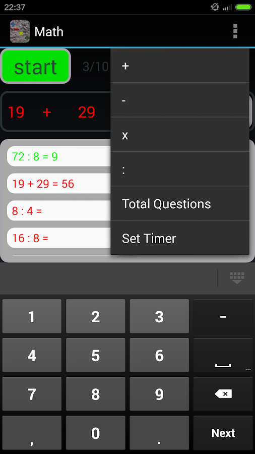 Primary School Math Exercise - screenshot