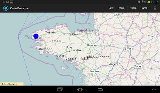Carte de Bretagne au 1 50000