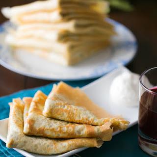 Turkey Crepes (Savory Nalesniki)